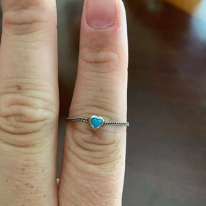 Never Worn Pandora Spirited Heart Ring Blue